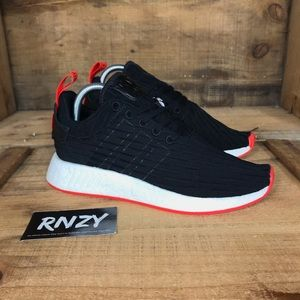 NEW Adidas NMD R2 Core Black Red